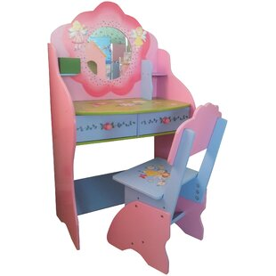 Ginsburg Dressing Table Set With Mirror By Zoomie Kids