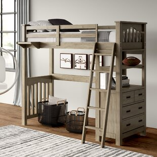 Best Price Bedlington Loft Bed with Drawers By Greyleigh