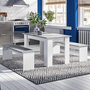 Hannah Dining Set with 2 Benches