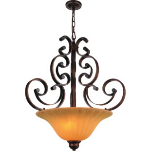 CWI Lighting Victorian 3-Light Bowl Pendant