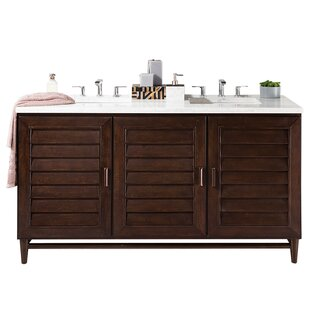 Top Reviews Portland 60 Double Bathroom Vanity Base Only By James Martin Furniture