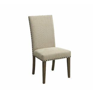 Ophelia & Co. Voorhies Transitional Wooden Upholstered Dining Chair (Set of 2)