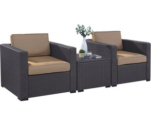 Dinah 3 Piece Conversation Set with Cushions