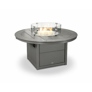 Round Natural Gas Tabletop Fireplace