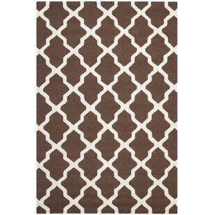 Brady Hand-Tufted Wool Dark Brown/Ivory Area Rug by Safavieh