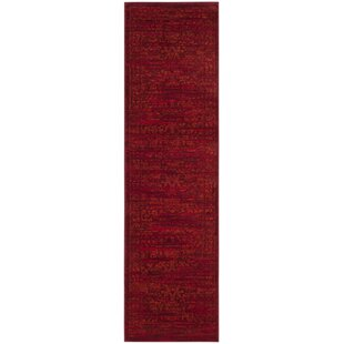 Cannon Red Area Rug by World Menagerie