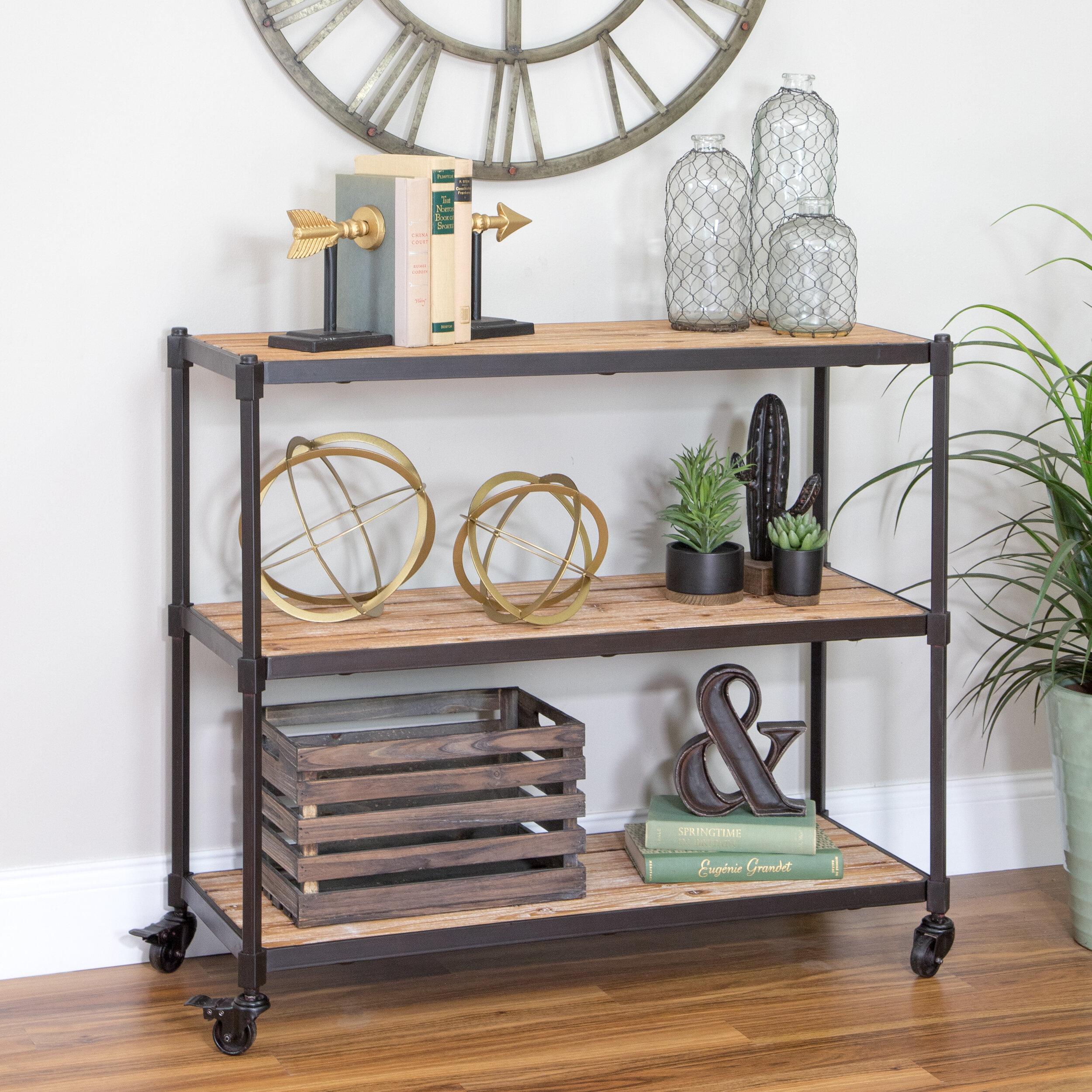 Gracie Oaks Vetter 3 Shelf Console Table | Wayfair