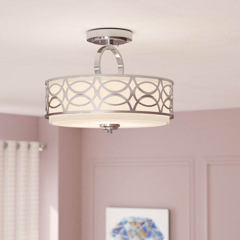 Willa Arlo Interiors Helina 3-Light Semi Flush Mount & Reviews | Wayfair