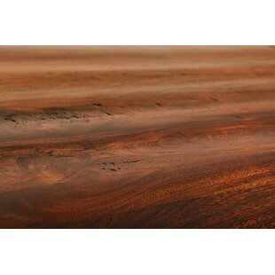 Wave Wood Bench by Aishni Home Furnishings