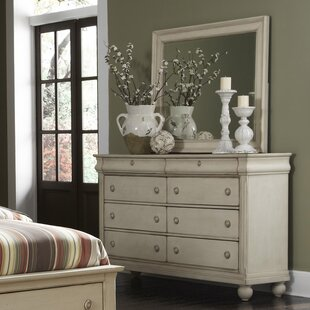 Oreana 8 Drawer Double Dresser with Mirror by Three Posts