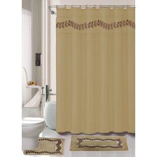 Rideaux de douche: Couleur - Marron | Wayfair.ca