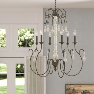 One Allium Way Kadyn 6-Light Candle-Style Chandelier
