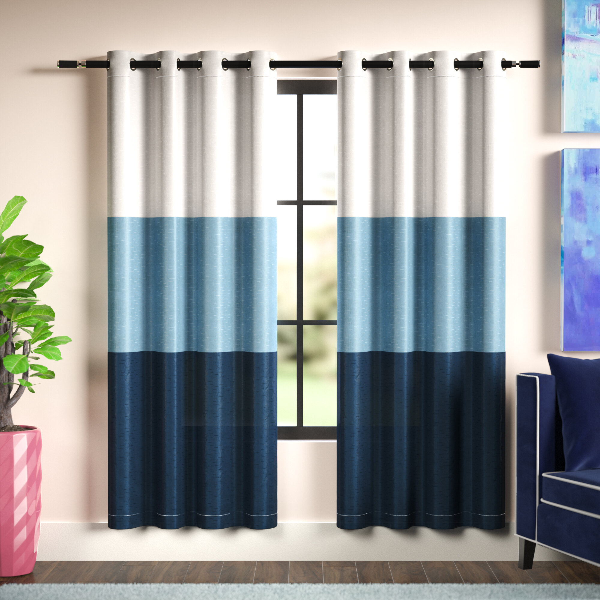 Picture of: Aqua Mid Century Modern Curtains Drapes You Ll Love In 2020 Wayfair