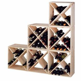 Wine Cellar Innovations Country Pine Cube 24 Bottle Floor Wine Rack