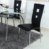 Brookview Upholstered Side Chair in Black (Set of 4) by Orren Ellis