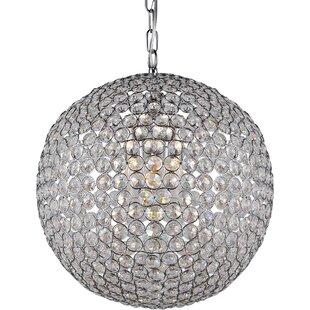 Crystal sphere chandelier wayfair vikesha 2 light crystal chandelier aloadofball Gallery