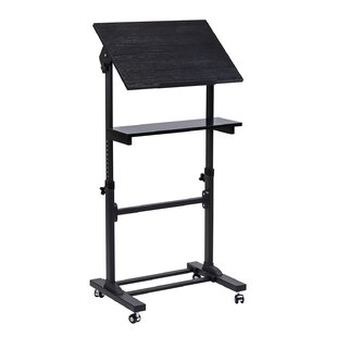 Angus Mobile Presentation Lectern Height Adjustable Multi Purpose Workstation Standing Desk