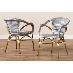 Marburger Bamboo Stacking Patio Dining Chair (Set of 2)