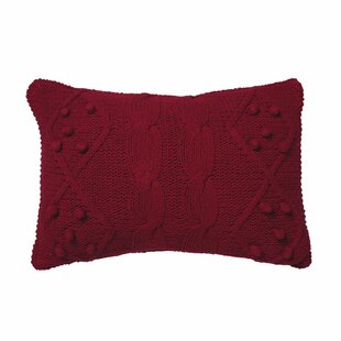 Piscium French Knot Cotton Lumbar Pillow