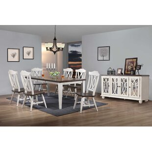 Leslie 8 Piece Extendable Solid Wood Dining Set Ophelia & Co.