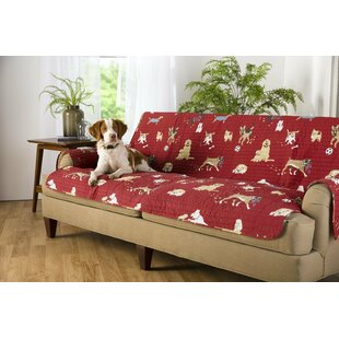 Dog Park Box Cushion Sofa Slipcover