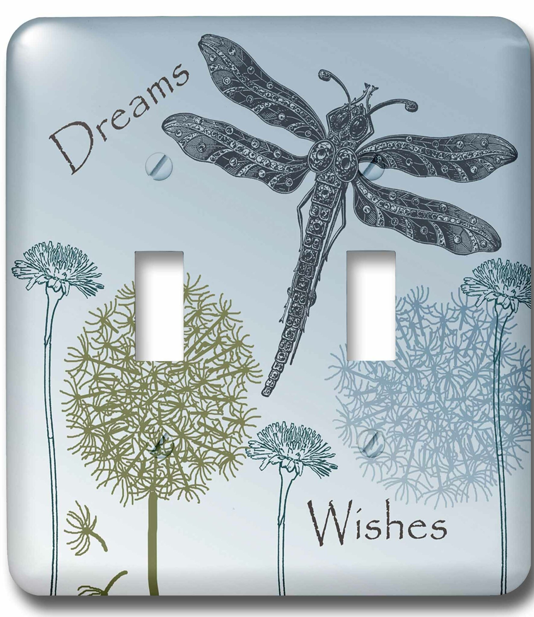 3drose Dreams And Wishes Dandelions And Dragonflies 2 Gang Toggle Light Switch Wall Plate Wayfair