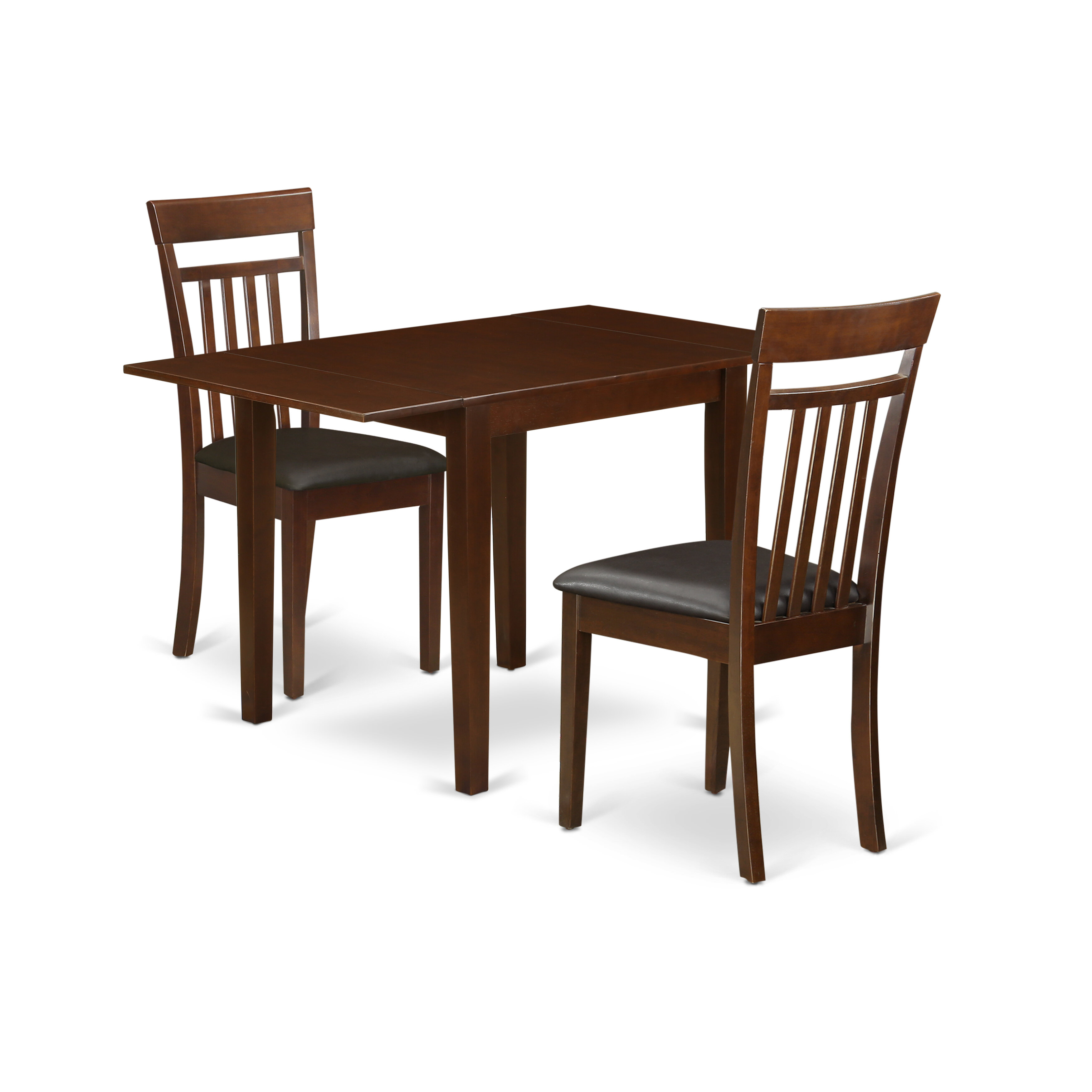 Winston Porter Modern Dining Table Set For 5 Four Outstanding Wooden Dining Room Chairs An Attractive Dining Room Table Mahogany Colour Faux Leather Mahogany Finish Wood Structure Wayfair Ca