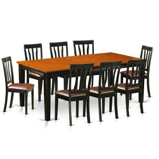 Loraine 9 Piece Extendable Solid Wood Dining Set