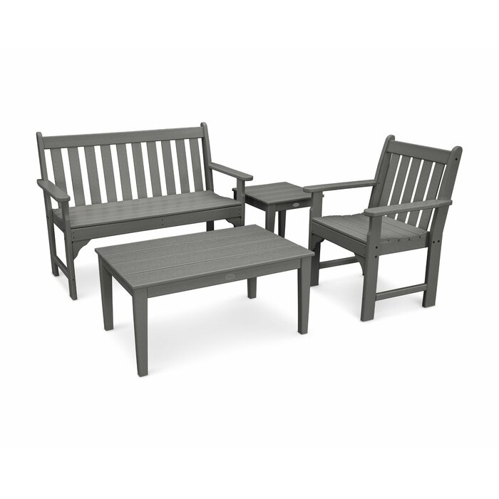 Fabulous Vineyard 4 Piece Bench Seating Set Gmtry Best Dining Table And Chair Ideas Images Gmtryco