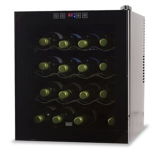 16 Bottle Single Zone Freestanding Wine Cellar by Black + Decker