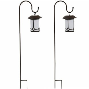 Affordable Price Orpha Traditional Solar Outdoor Hanging Lantern (Set of 2) By Charlton Home
