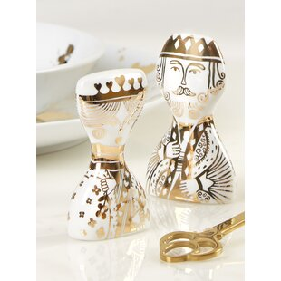 King and Queen 2 Piece Salt and Pepper Set ByJonathan Adler