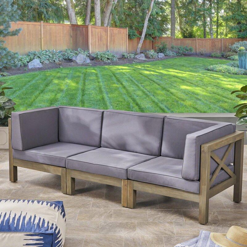 patio sofa with cushions