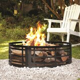 """Transient 12"""" H x 36"""" W Steel Wood Burning Outdoor Fire Ring"""