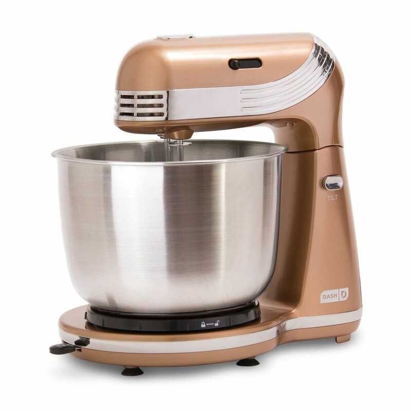DASH Everyday 6 Speed 2.5 Qt. Stand Mixer Color: Copper