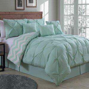 Comforter Sets Youll Love Wayfair - Contemporary green comforter set