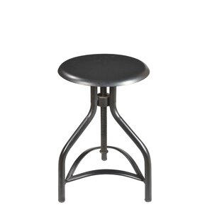 Josh Adjustable Height Swivel Bar Stool by Taran Designs