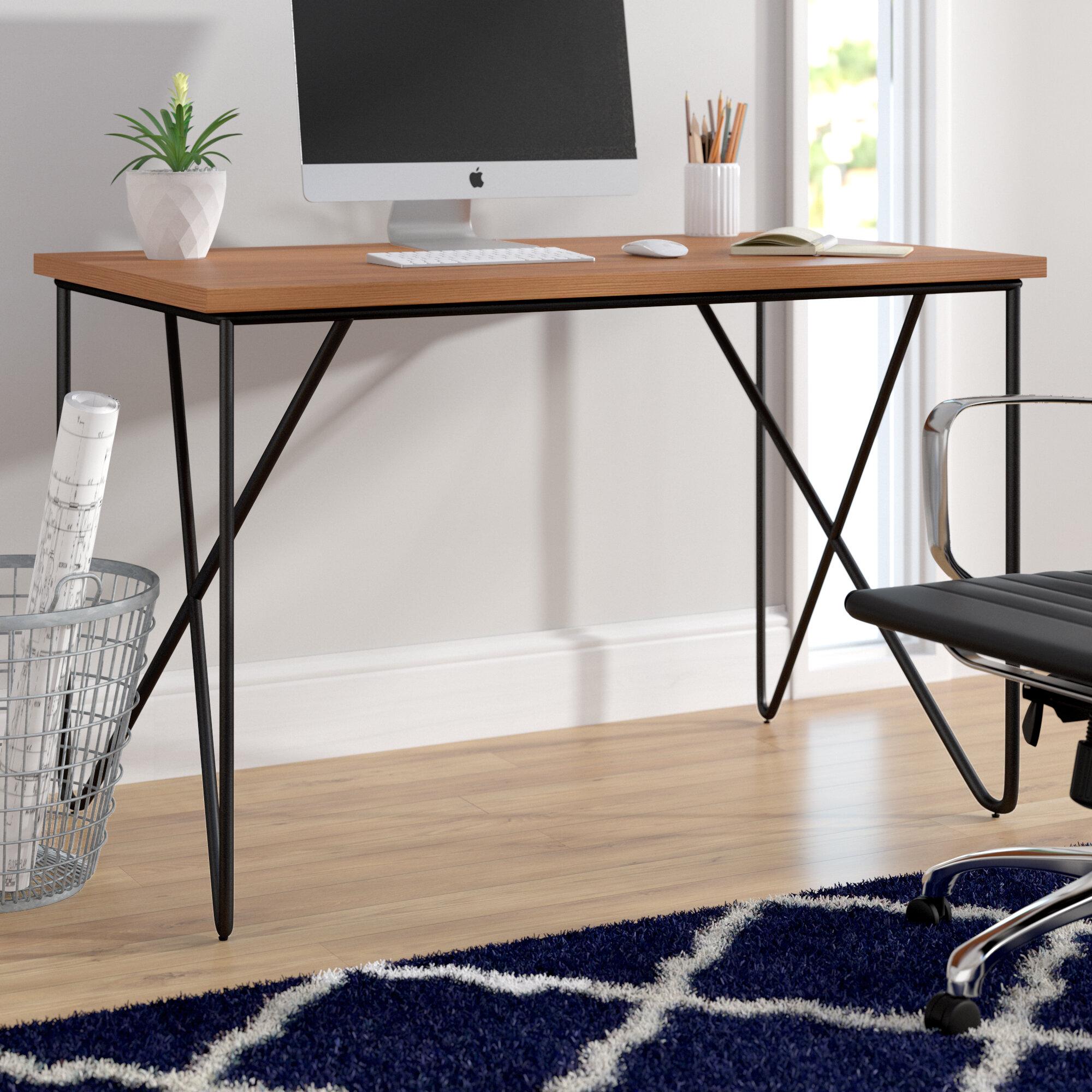 Wade Logan Calila Mid Century Modern Office Desk   Wayfair