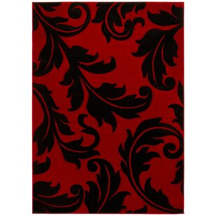 Great choice Johnathon Hand-Carved Red/Black Area Rug By Red Barrel Studio