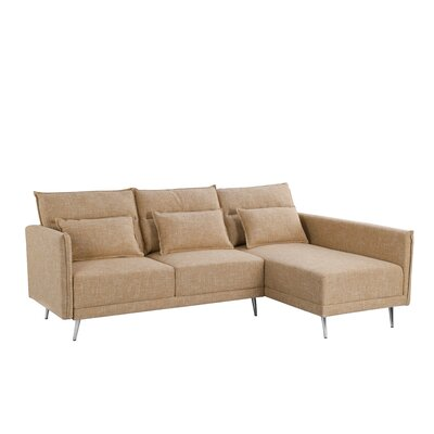 Turn on the Brights Lyndon Sectional Upholstery Color: Beige