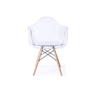 Wrought Studio Revis Mid Century Transparent Dining Chair