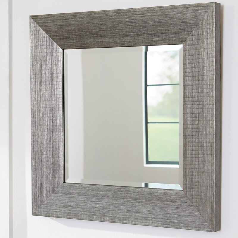 Rectangular Wall Mirror ivy bronx rectangle wood frame wall mirror & reviews | wayfair