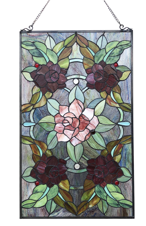 Rosalind Wheeler Erin Stained Glass Window Panel Wayfair