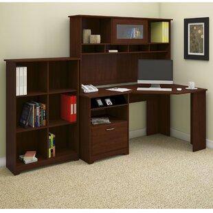 Red Barrel Studio Hillsdale Corner Desk with Hutch and Bookcase