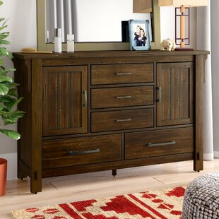Loon Peak Baird 5 Drawer Combo Dresser