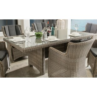 Sandefur Rattan Dining Table By Sol 72 Outdoor