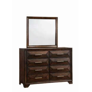 Pennington 8 Drawer Double Dresser with Mirror