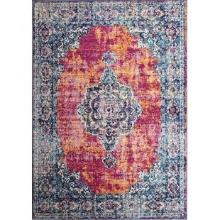 Valeria Red/Blue Area Rug by Bungalow Rose