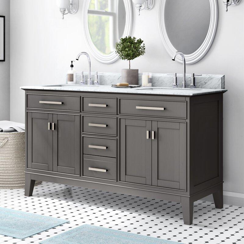 Charlton Home Arminta 60 Double Bathroom Vanity Set Reviews Wayfair