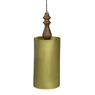 World Menagerie Chantelle Traditional Iron/Wooden 1-Light Cylinder Pendant